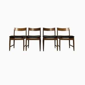 Mid-Century Teak Dining Chairs from Bath Cabinet Makers, Set of 4
