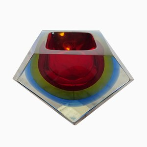 Murano Glass Bowl by Flavio Poli for Seguso, 1960s