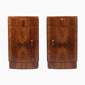 Art Deco Bedside Cabinets, Set of 2