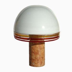 Vintage Febo Tischlampe aus Glas & Marmor von Roberto Pamio & Toso für Leucos