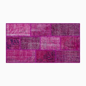 Fuchsia Patchwork Carpet, 1960s