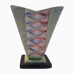 Jarrón Art Deco de Myott & Son, años 30