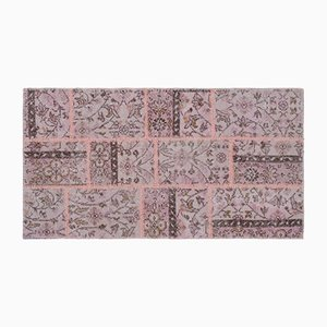 Pink Patchwork Carpet, 1960s