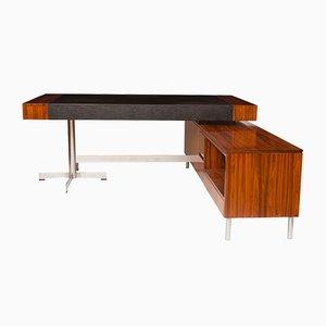 Schreibtischanlage aus Palisander & Chrom, 1970er