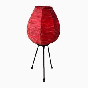 Lámpara de mesa con trípode escandinava, años 70