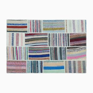 Striped Patchwork Kilim Carpet, 1960s