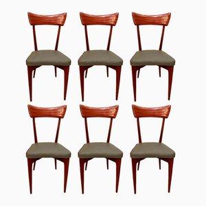 Chaises Vintage par Ico & Luisa Parisi, Set de 6