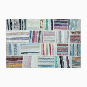 Striped Patchwork Kilim Carpet, 1960s