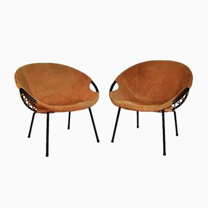 Circle Lounge Chairs by Lusch Erzeugnis for Lush & Co, 1960s, Set of 2