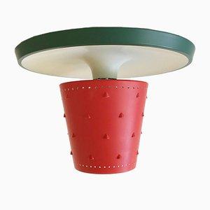 Lámpara de techo alemana Mid-Century, años 50