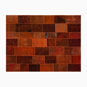 Orange Patchwork Carpet, 1960s