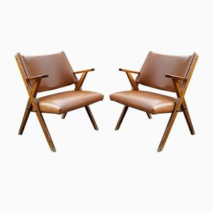 Vintage Armchairs from Dal Vera, 1960s, Set of 2