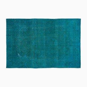 Vintage Turquoise Carpet, 1960s