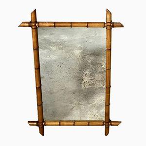 Vintage Spiegel mit Bambusrahmen