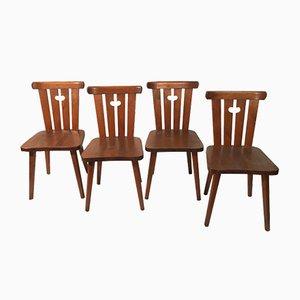 Schwedische Stühle, 1970er, 4er Set