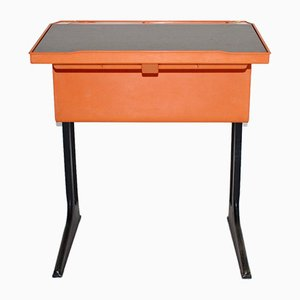 German Orange Desk by Luigi Colani for Flötotto, 1970s