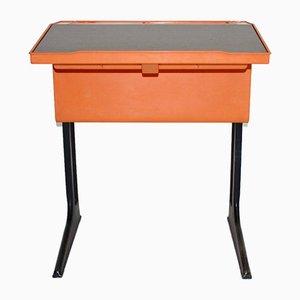 Oranger deutscher Schreibtisch von Luigi Colani für Flötotto, 1970er