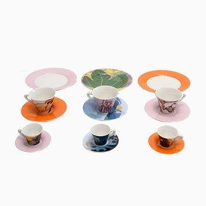 Juego de té Poi Ti Spiego de Ettore Sottsass, años 90
