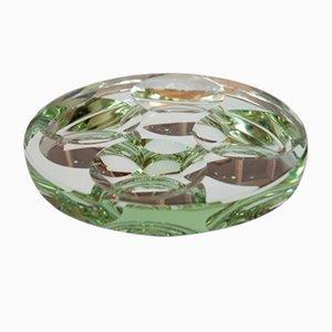 Tafelaufsatz aus geschliffenem Kristallglas von Pietro Chiesa für Fontana Arte, 1960er