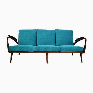 Walnut Sofa from De Ster Gelderland, 1950s