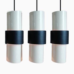 Tres lámparas colgantes de RAAK, años 60