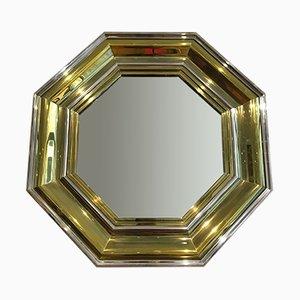 Specchio Hollywood Regency grande di Sandro Petti per Maison Jansen, anni '70