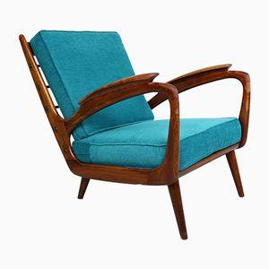 Walnut Easychair from De Ster Gelderland, 1950s