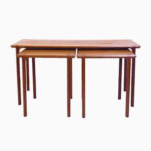 Tables Gigognes en Teck, 1960s