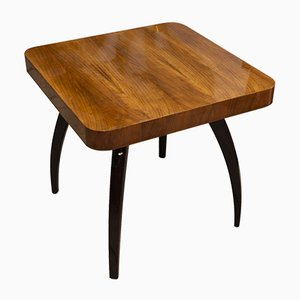 Walnut Spider Table H-259 by Jindrich Halabala for UP Závody, 1950s