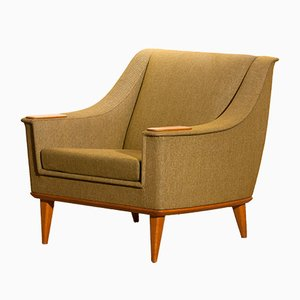 Swedish Oak Easy Chair by Folke Ohlsson for Dux, 1960s