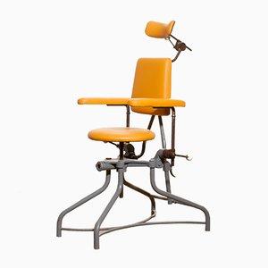 Medizinischer Beistellstuhl aus Stahl, 1930er