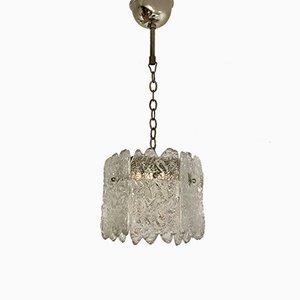 Lámpara colgante sueca pequeña de cristal de hielo de Carl Fagerlund para Orrefors, años 60