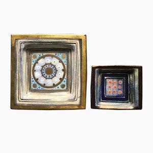 Französische Vide-Poches aus Keramik von Pelletier, 1960er, 2er Set