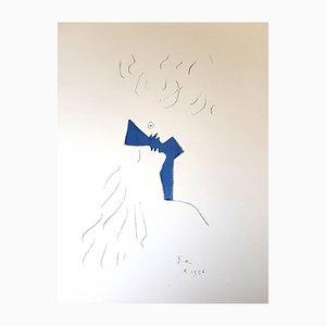 Lithographie Lovers par Jean Cocteau, 1954