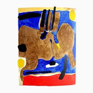 Lithographie Composition par Maurice Estève, 1964