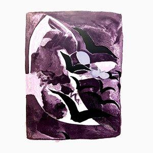 Litografia Birds freedom di Georges Braque, 1964