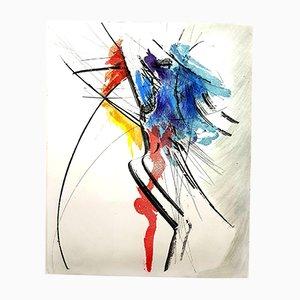Lithographie Abstraite Composition Aquatint par Jean Miotte, 1970s