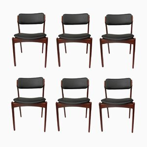 Model 49 Teak Dining Chairs by Erik Buch for Oddense Maskinsnedkeri, 1960s, Set of 6