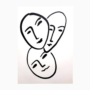 Three Faces Lithograph by Henri Matisse, 1952