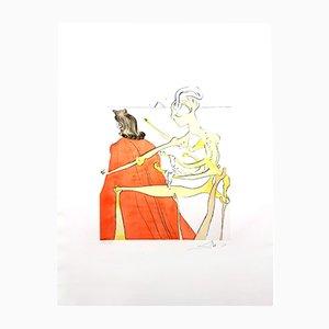Incisione La divina schiena di Gala di Salvador Dali, 1974
