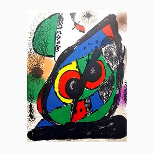 Abstract Lithographie von Joan Miró, 1981