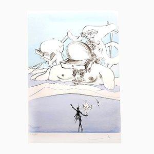 Grabado Flung out like de Salvador Dali para Atelier Rigal, 1974