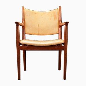 Modell 713 Armlehnstuhl aus Eiche von Hans. J. Wegner für Johannes Hansen, 1960er