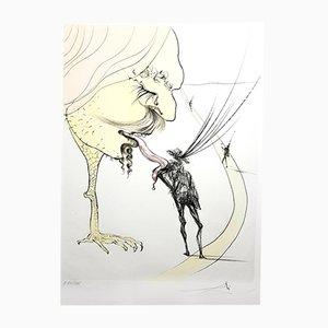 Grabado Picasso: A Ticket to Glory de Salvador Dali, 1974