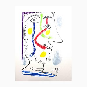 Le Gôut du Bonheur Litograph by Pablo Picasso, 1970