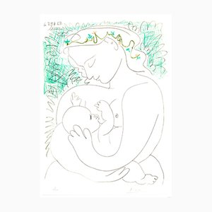 Maternity Lithograph by Pablo Picasso, 1963