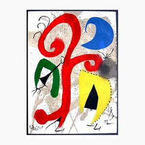 Lithographie Moonlight Garden par Joan Miró, 1973