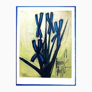 Litografía floral de Bernard Buffet para Les Heures Claires, años 60