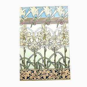 Litografia Flowers di Alphonse Mucha, 1902