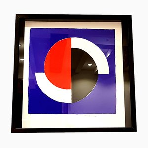 Vintage Composition Lithograph by Sonia Delaunay